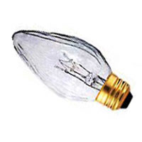 F15 Flame Shaped Shatter Resistant, Safety Coated, Clear Light Bulb