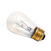 S14 Safety Coated,  Shatter Resistant, Incandescent Light Bulb