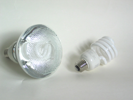 Safety Coated Shatter-Resistant Compact Fluorescent Light Bulbs