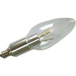 Chandelier LED Light Bulb, Clear Torpedo, Aluminum