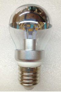A19 LED Energy-Saving Lamp, Clear Silver Bowl, 4 Watt